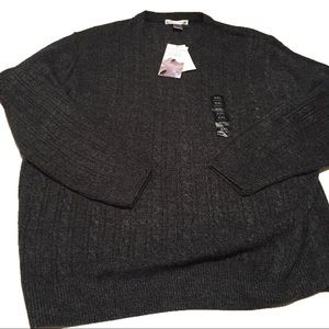 NWT Geoffrey Beene Grey Cable Knit Light Sweater